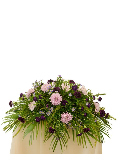 Picture of Mauve Memories Casket Spray